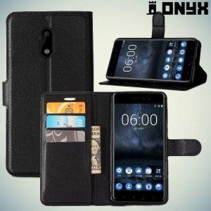 Чехол книжка для Nokia 6 - Черный