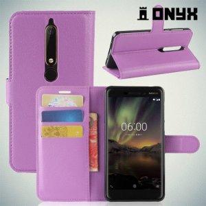 Чехол книжка для Nokia 6.1 - Фиолетовый
