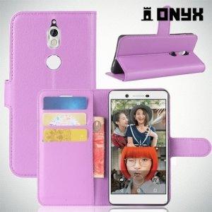 Чехол книжка для Nokia 7 - Фиолетовый