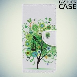 Чехол книжка для OnePlus 5 - с рисунком Дерево счастья