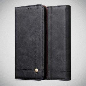 Чехол книжка для OnePlus 7 с магнитом и отделением для карты - Черный