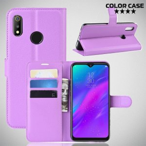 Чехол книжка для Oppo Realme 3 - Фиолетовый