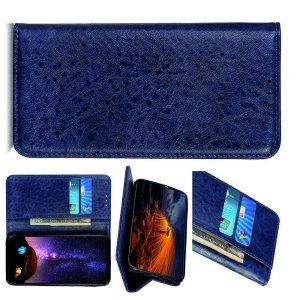 Чехол книжка для OPPO Realme XT с магнитом и отделением для карты - Синий