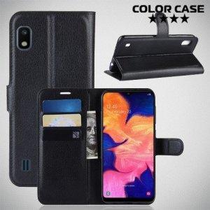 Чехол книжка для Samsung Galaxy A10 - Черный
