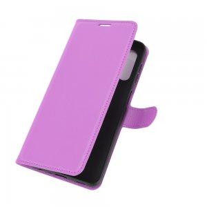 Чехол книжка для Samsung Galaxy A32 отделения для карт и подставка Фиолетовый