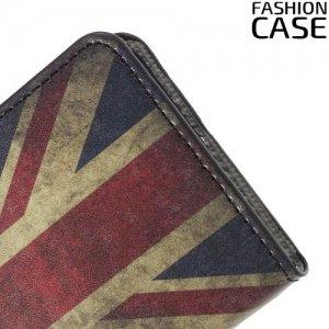 Чехол книжка для Samsung Galaxy A5 2016 SM-A510F - с рисунком Британский флаг