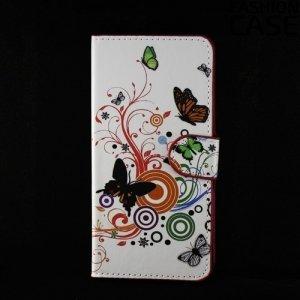 Чехол книжка для Samsung Galaxy A5 2016 SM-A510F - с рисунком Бабочка