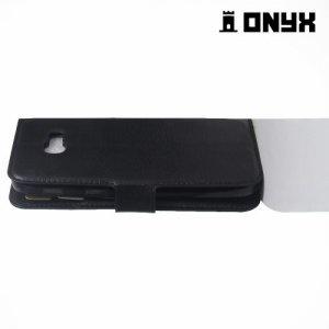 Чехол книжка с магнитной застежкой для Samsung Galaxy A5 2017 SM-A520F - Черный