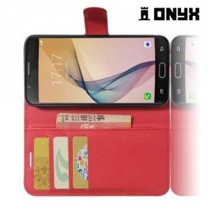 Чехол книжка для Samsung Galaxy A5 2017 SM-A520F - Красный