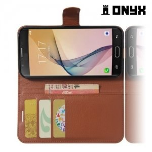 Чехол книжка для Samsung Galaxy A5 2017 SM-A520F - Коричневый