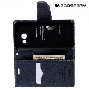 Чехол книжка для Samsung Galaxy A5 2017 SM-A520F Mercury Goospery - Бирюзовый