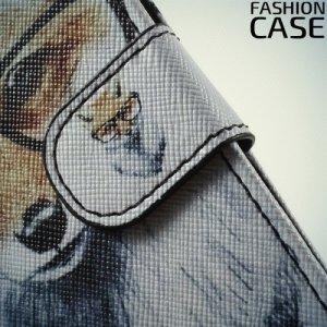 Чехол книжка для Samsung Galaxy A5 2017 SM-A520F - с рисунком Лиса