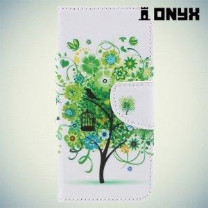 Чехол книжка для Samsung Galaxy A5 2018 SM-A530F - Дерево счастья
