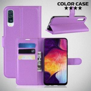 Чехол книжка для Samsung Galaxy A50 / A30s - Фиолетовый