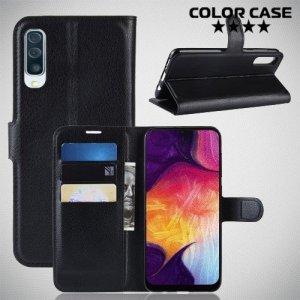 Чехол книжка для Samsung Galaxy A50 / A30s - Черный