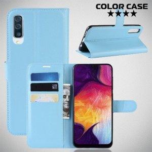 Чехол книжка для Samsung Galaxy A50 - Голубой
