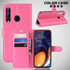 Чехол книжка для Samsung Galaxy A60 - Розовый