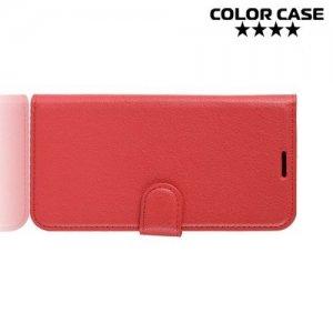Чехол книжка для Samsung Galaxy A6s - Красный