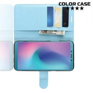 Чехол книжка для Samsung Galaxy A6s - Голубой