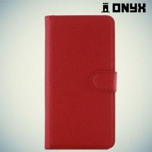 Чехол книжка для Samsung Galaxy A7 2016 SM-A710F - Красный