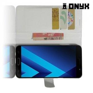 Чехол книжка для Samsung Galaxy A7 2017 SM-A720F - Белый
