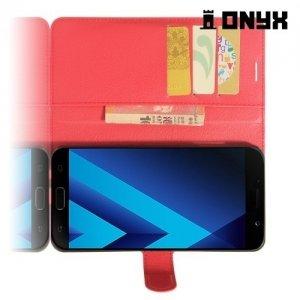 Чехол книжка для Samsung Galaxy A7 2017 SM-A720F - Красный