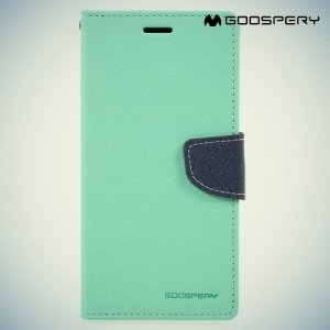 Чехол книжка для Samsung Galaxy A7 2017 SM-A720F Mercury Goospery - Бирюзовый