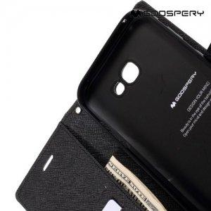 Чехол книжка для Samsung Galaxy A7 2017 SM-A720F Mercury Goospery - Черный