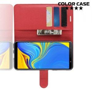 Чехол книжка для Samsung Galaxy A7 2018 SM-A750F - Красный