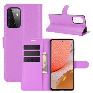 Чехол книжка для Samsung Galaxy A72 отделения для карт и подставка Фиолетовый
