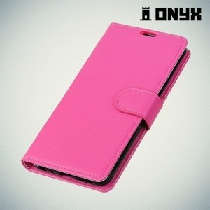 Чехол книжка для Samsung Galaxy A8 2018 - Розовый