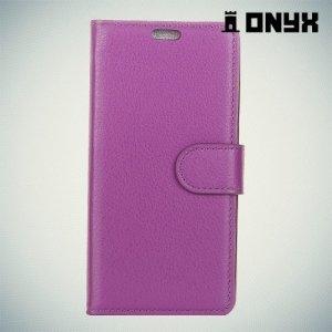 Чехол книжка для Samsung Galaxy A8 2018 - Фиолетовый