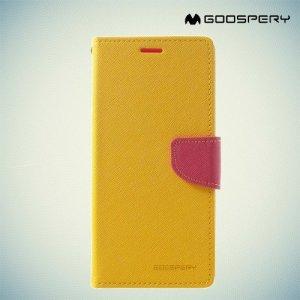 Чехол книжка для Samsung Galaxy A8 2018 Mercury Goospery - Желтый