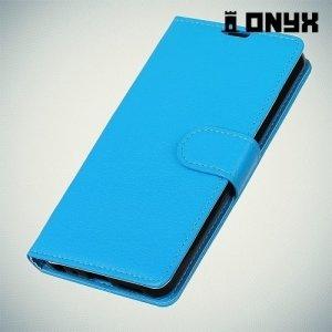 Чехол книжка для Samsung Galaxy A8 Plus 2018 - Синий