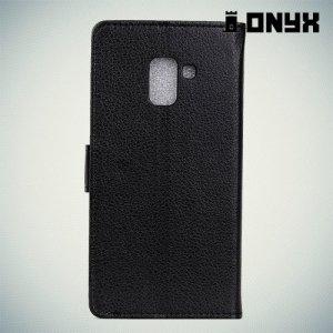 Чехол книжка для Samsung Galaxy A8 Plus 2018 - Черный