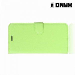 Чехол книжка для Samsung Galaxy A8 Plus 2018 - Зеленый