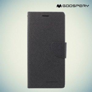 Чехол книжка для Samsung Galaxy A8 Plus 2018 Mercury Goospery - Черный