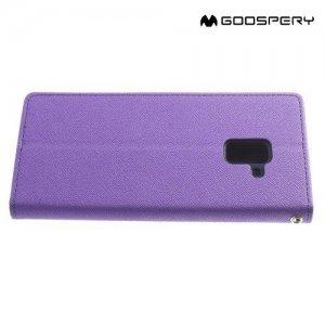 Чехол книжка для Samsung Galaxy A8 Plus 2018 Mercury Goospery - Фиолетовый