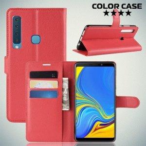 Чехол книжка для Samsung Galaxy A9 2018 SM-A920F - Красный