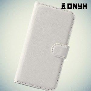 Чехол книжка для Samsung Galaxy E5 - Белый