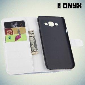 Чехол книжка для Samsung Galaxy E7 - Белый