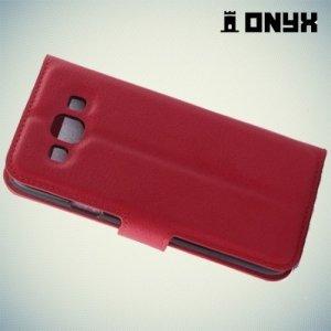 Чехол книжка для Samsung Galaxy E7 - Красный