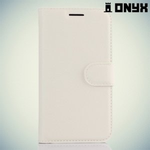 Чехол книжка для Samsung Galaxy J1 2016 SM-J120F - Белый