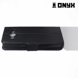 Чехол книжка для Samsung Galaxy J2 Prime - Черный