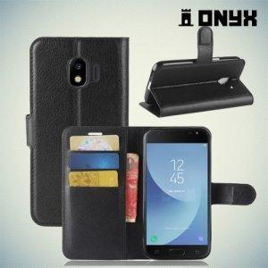 Чехол книжка для Samsung Galaxy J2 (2018) SM-J250F - Черный
