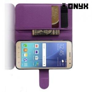 Чехол флип книжка для Samsung Galaxy J3 2016 SM-J320F - Фиолетовый