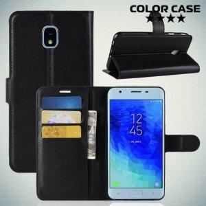 Чехол книжка для Samsung Galaxy J3 2018 SM-J337A - Черный
