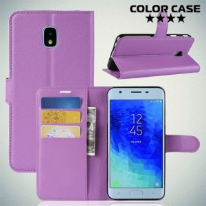 Чехол книжка для Samsung Galaxy J3 2018 SM-J337A - Фиолетовый