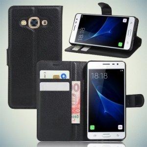 Чехол книжка для Samsung Galaxy J3 Pro - Черный
