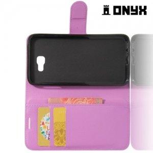 Чехол книжка для Samsung Galaxy J5 Prime  - Фиолетовый